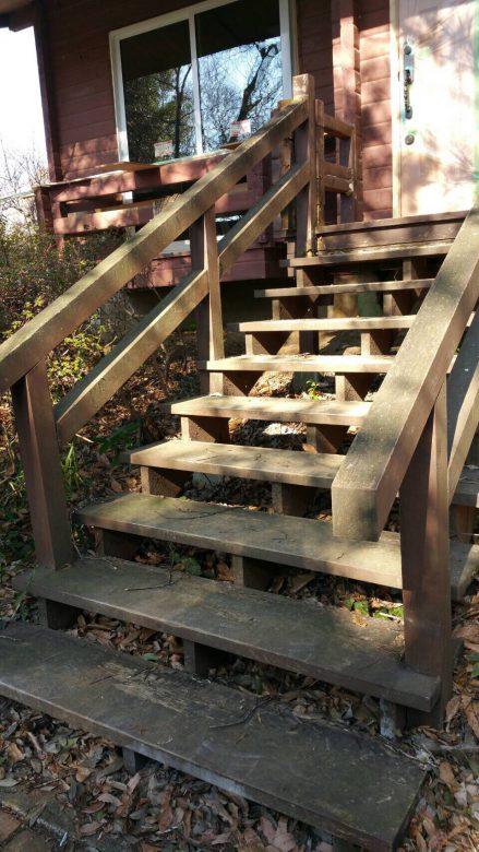 ウッドデッキ階段